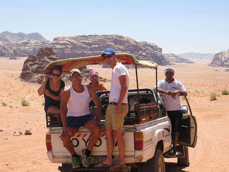 Jeep in Wadi Rum, Jordanië
