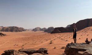 Jordanië Wadi Rum Uitzicht