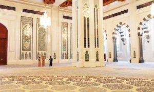 Oman Sultan Qaboos Moskee Binnenkant