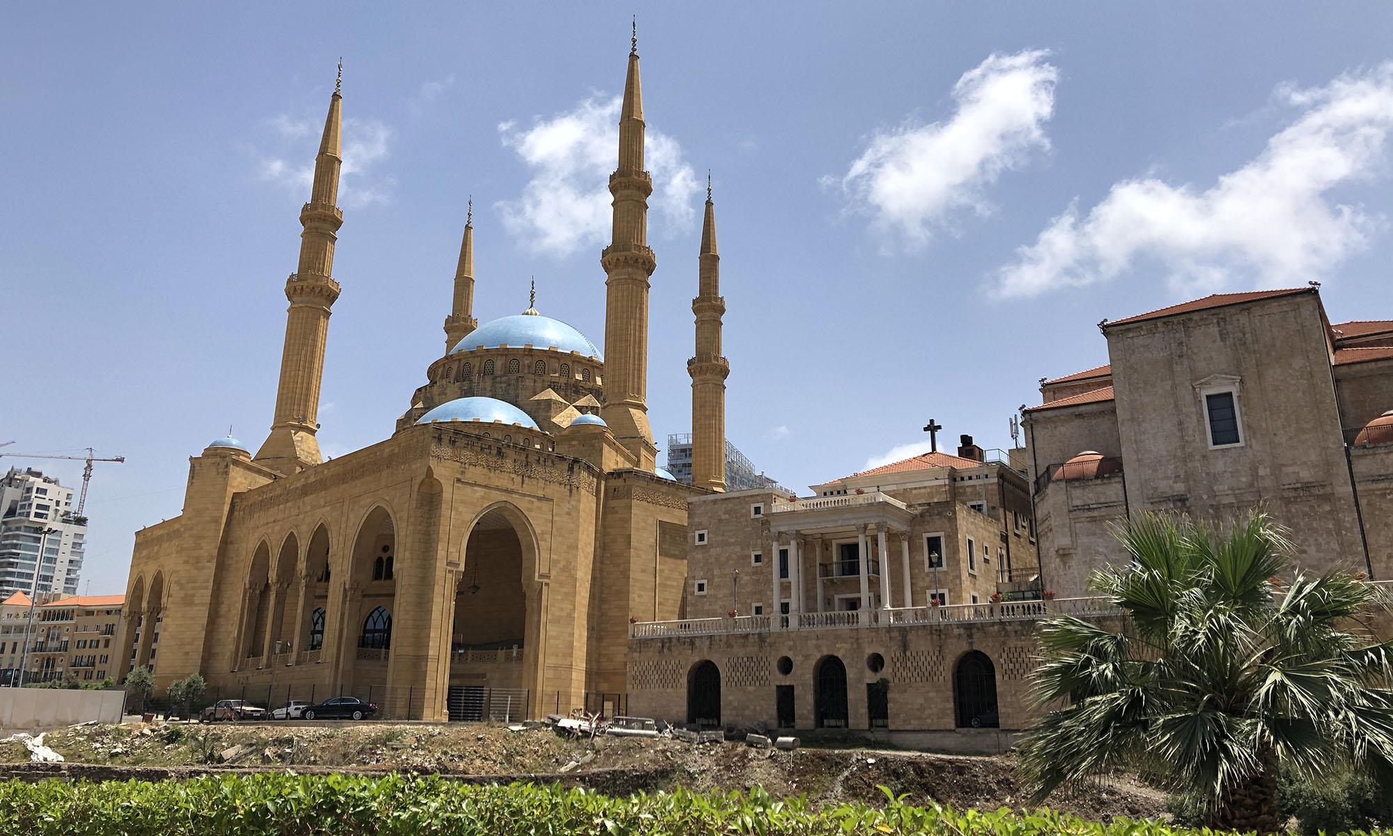 Libanon Beiroet Al Amin Moskee St George Kathedraal