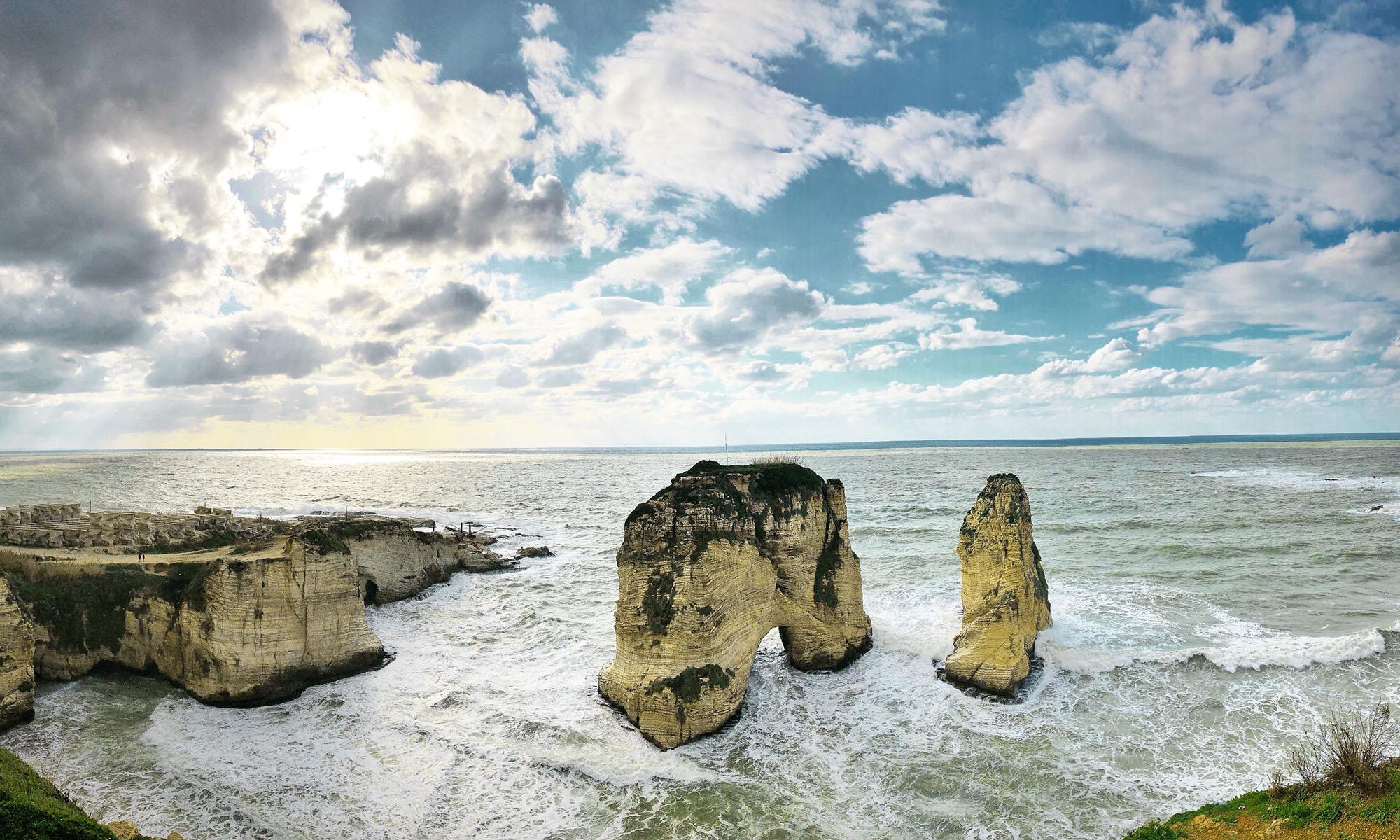 Libanon Beiroet Pigeon Rocks
