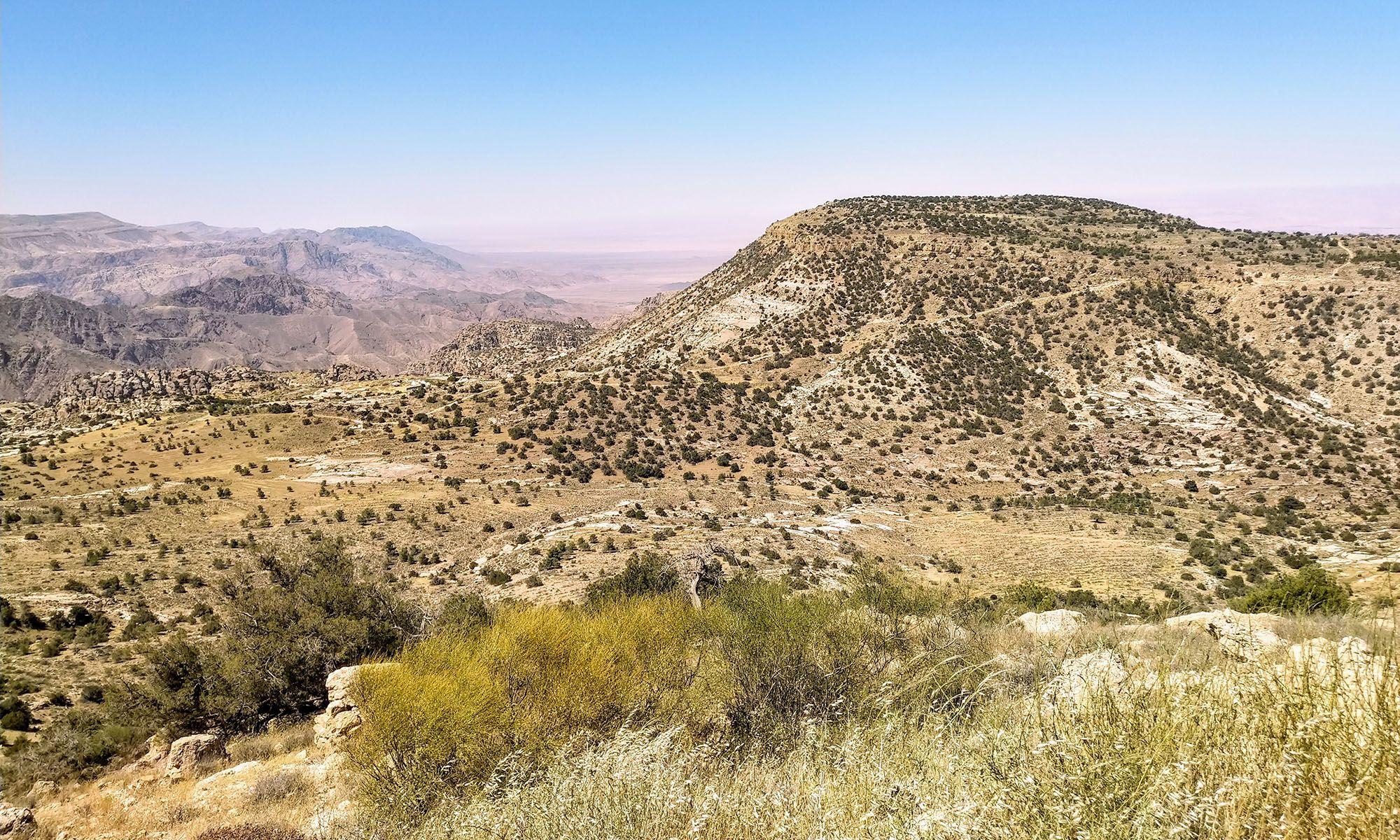 Jordanië Dana Natuurpark Uitzicht