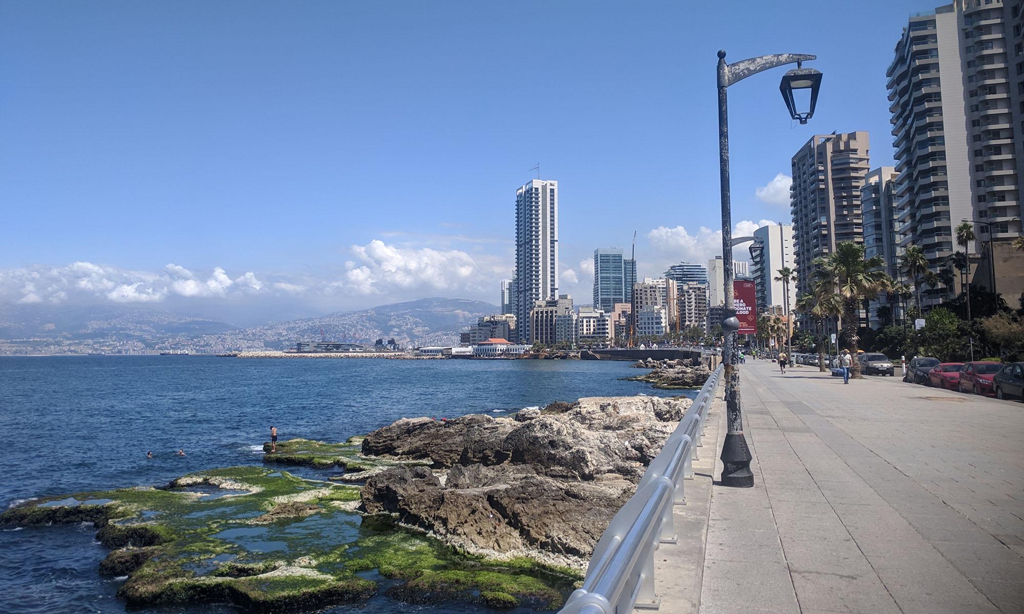 Libanon Beiroet Corniche