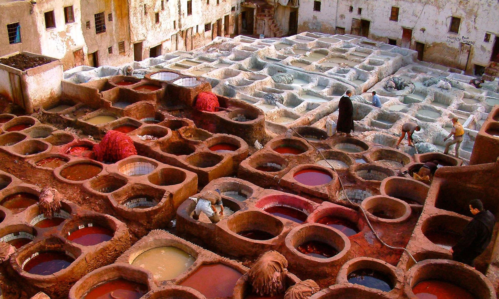 Marokko Fez Leerlooierijen