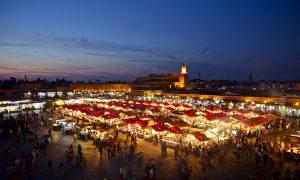 Marokko Marrakech Djemaa El Fna Avond