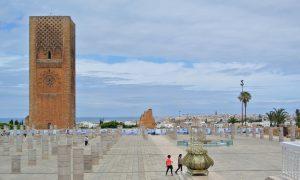 Marokko Rabat Hassantoren