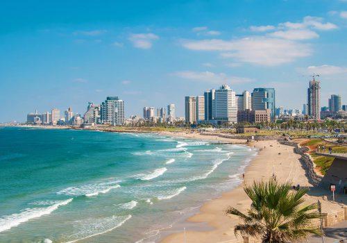 Kust en strand in Tel Aviv
