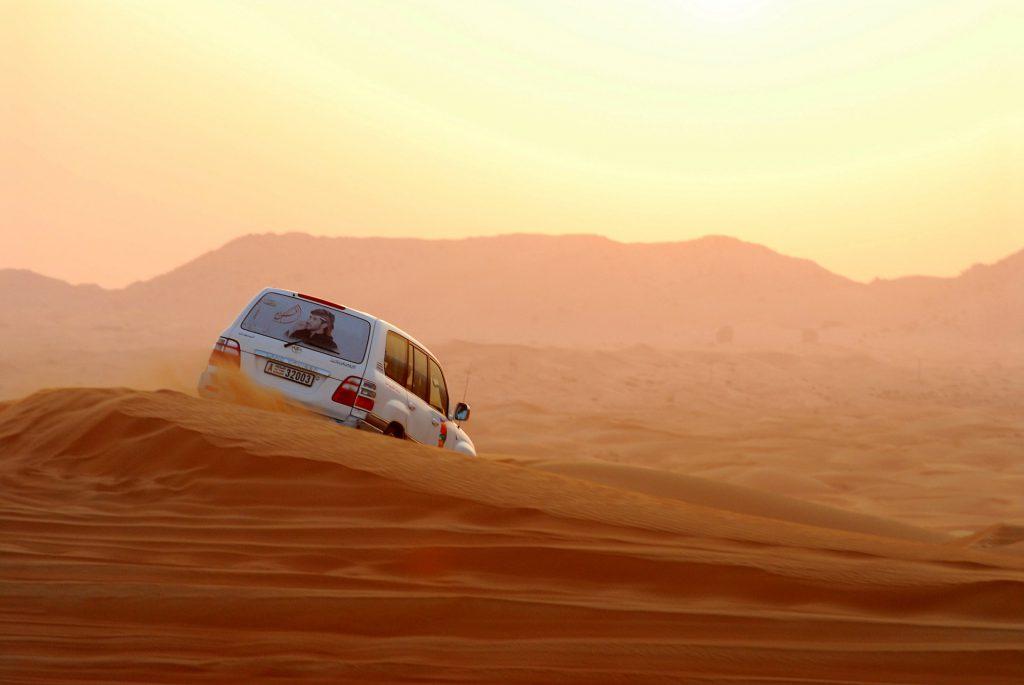 Jeepsafari in de woestijn