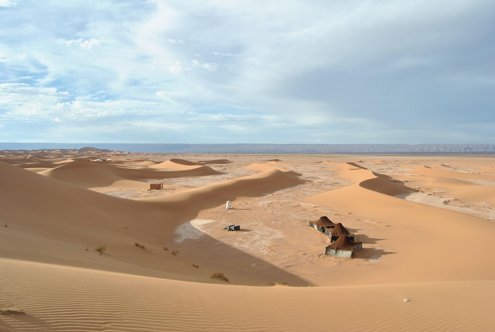 Overnachten in de woestijn van Marokko