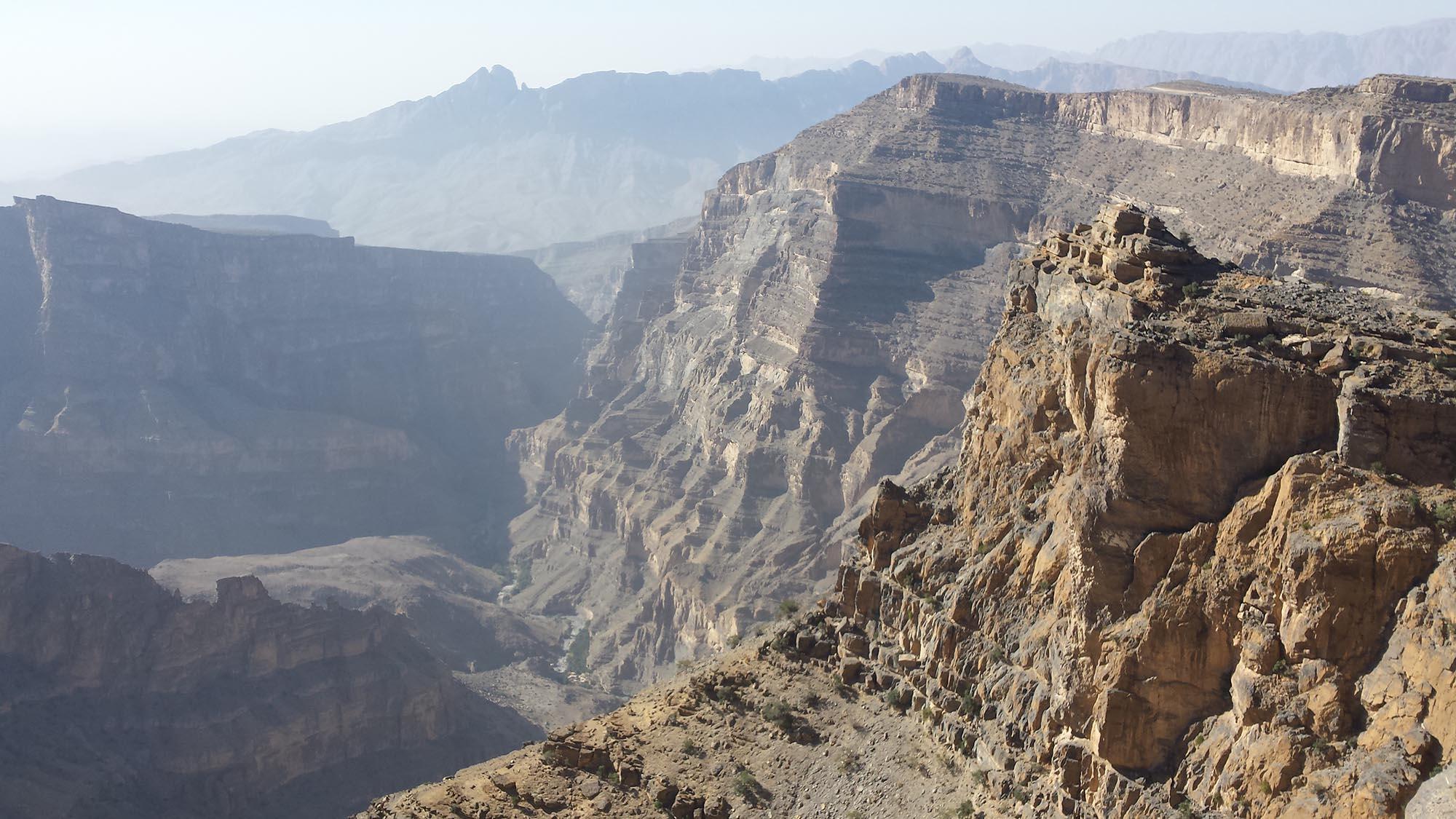 Jebel Shams Uitzicht