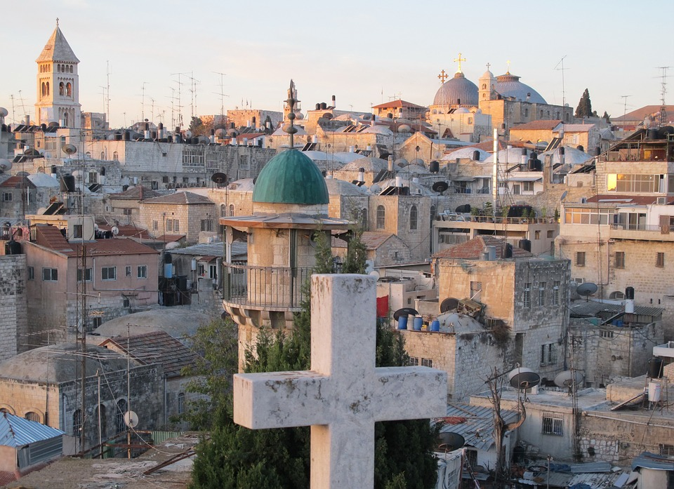 Jeruzalem, heilige stad in  modern jasje