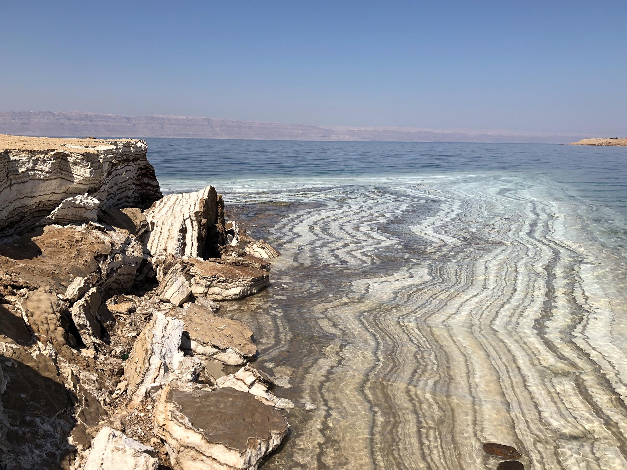 Jordanië Dode Zee Zoutafzetting