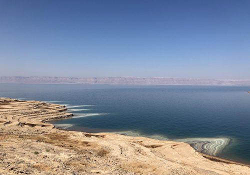Jordanië Dode Zee Zoutafzettingen