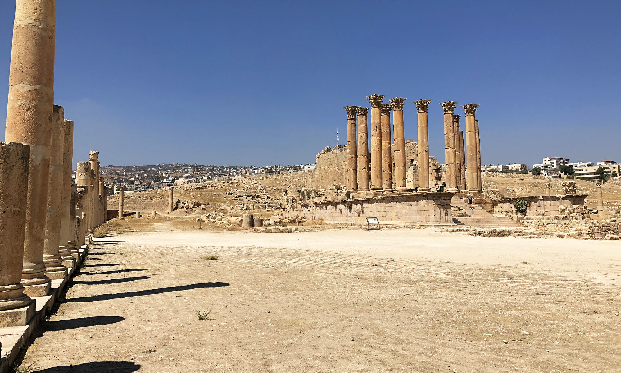 Jordanië Jerash Plein