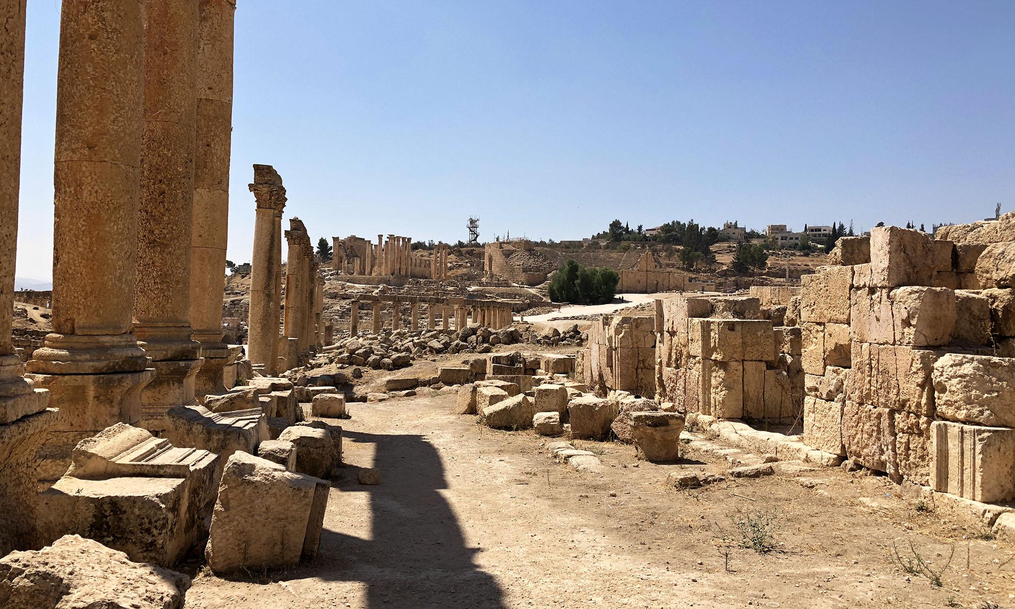 Jordanië Jerash Romeinse ruïnes