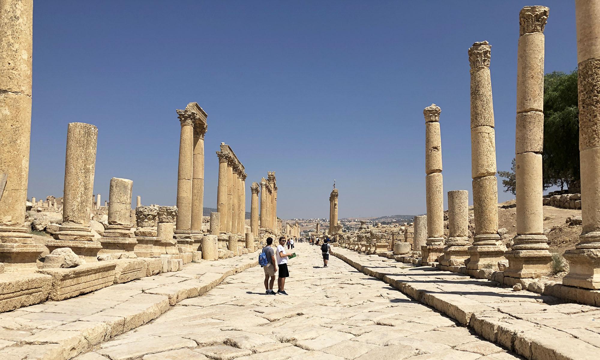 Stad van de Romeinen in Jordanië