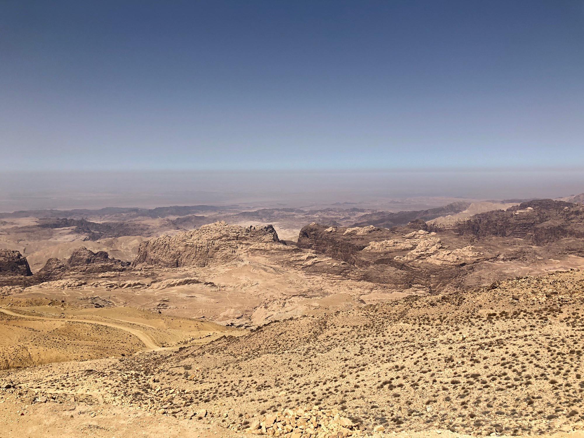 Jordanië Kings Highway Uitzicht