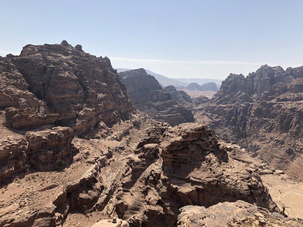 Jordanië, Petra uitzicht nabij het klooster