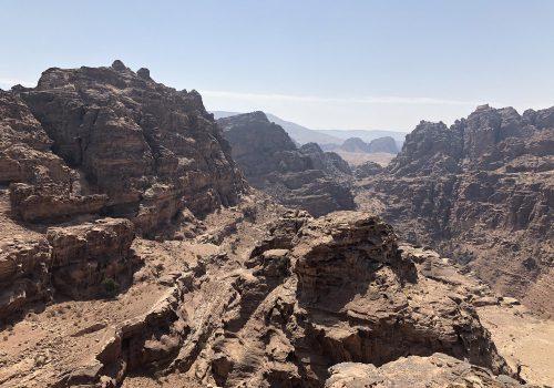 Jordanië Petra Uitzicht Nabij Het Klooster