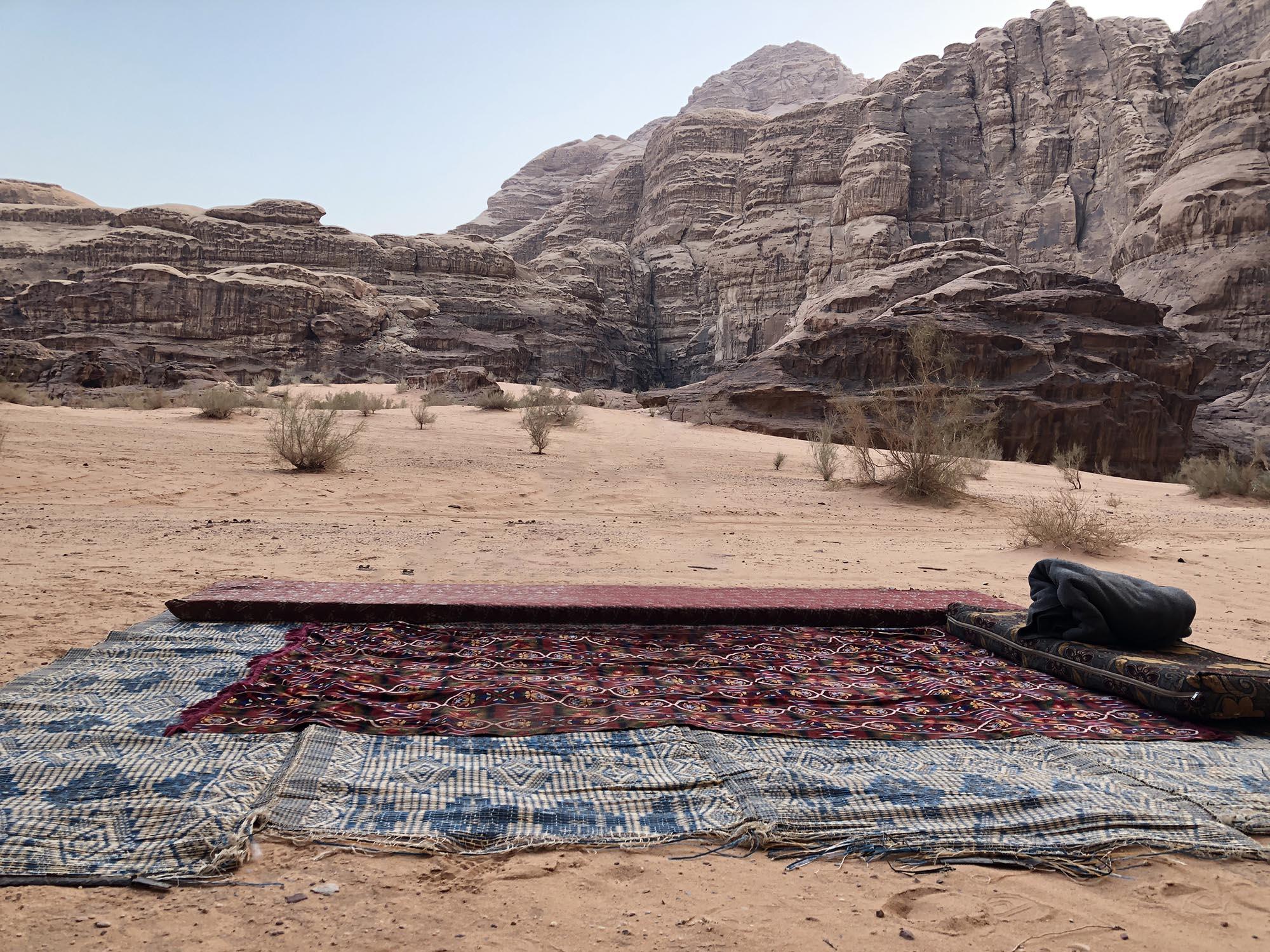 Jordanië Wadi Rum Wildkamperen