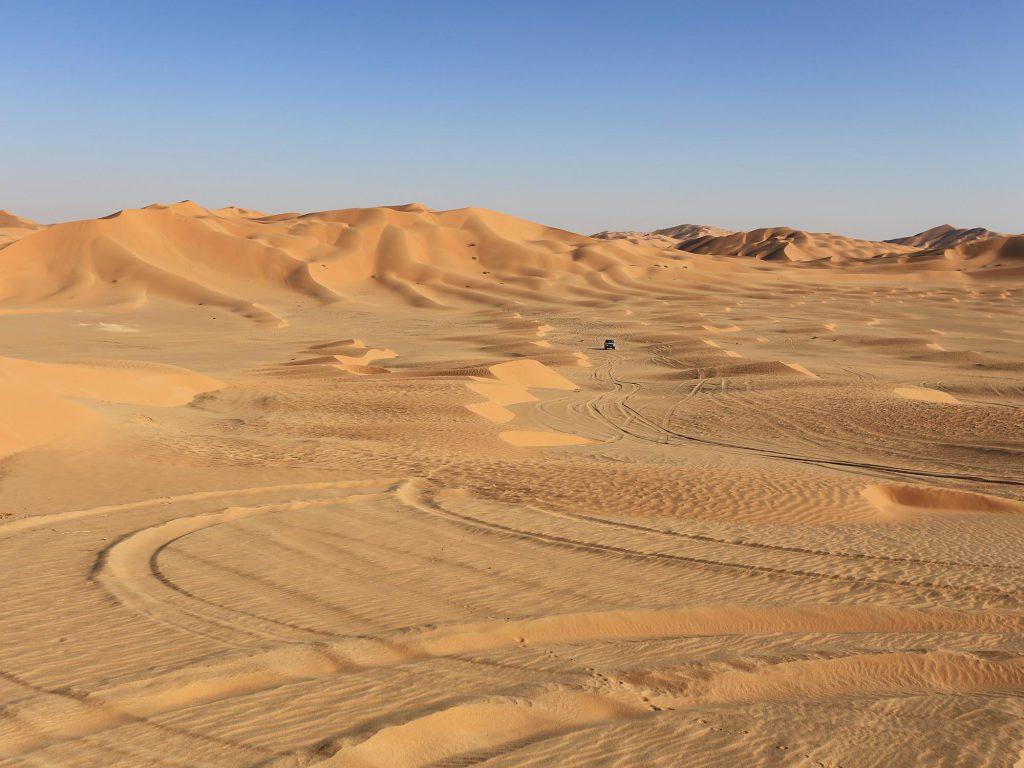 Het landschap van The Empty Quarter