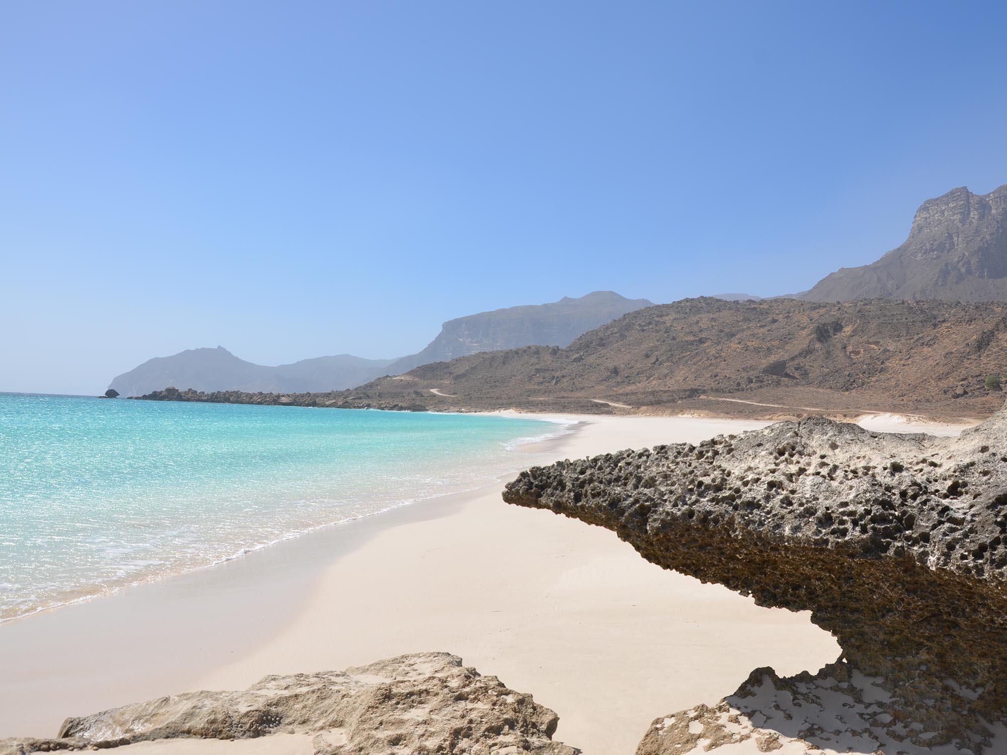 Oman Kust In De Buurt Van Salalah