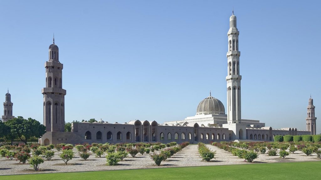 Qaboes Moskee in Oman