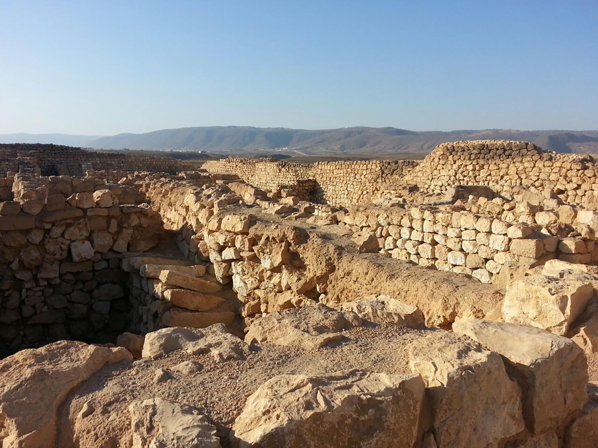 Oman Sumhuram ruïne Kasteel
