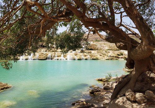 Oman Wadi Darbat Waterval
