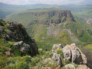 Tiberias Mount Arbel Uitzicht