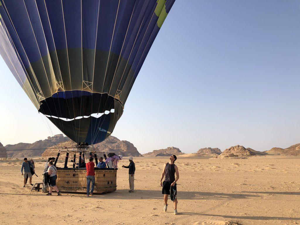Wadi Rum ballonvaart over de woestijn