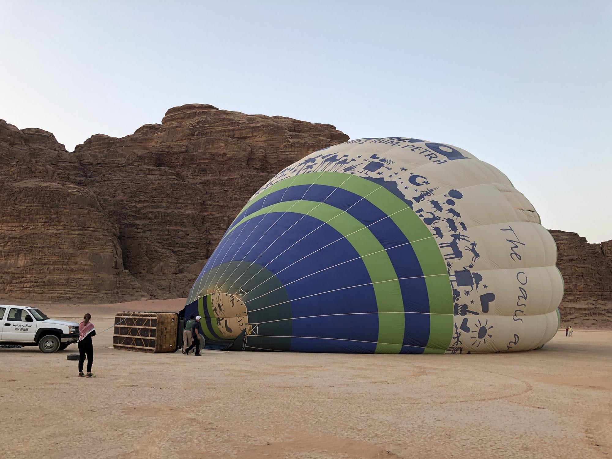 Wadi Rum Ballonvaart