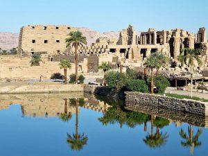 Egypte Heilig Meer Tempel Van Amon