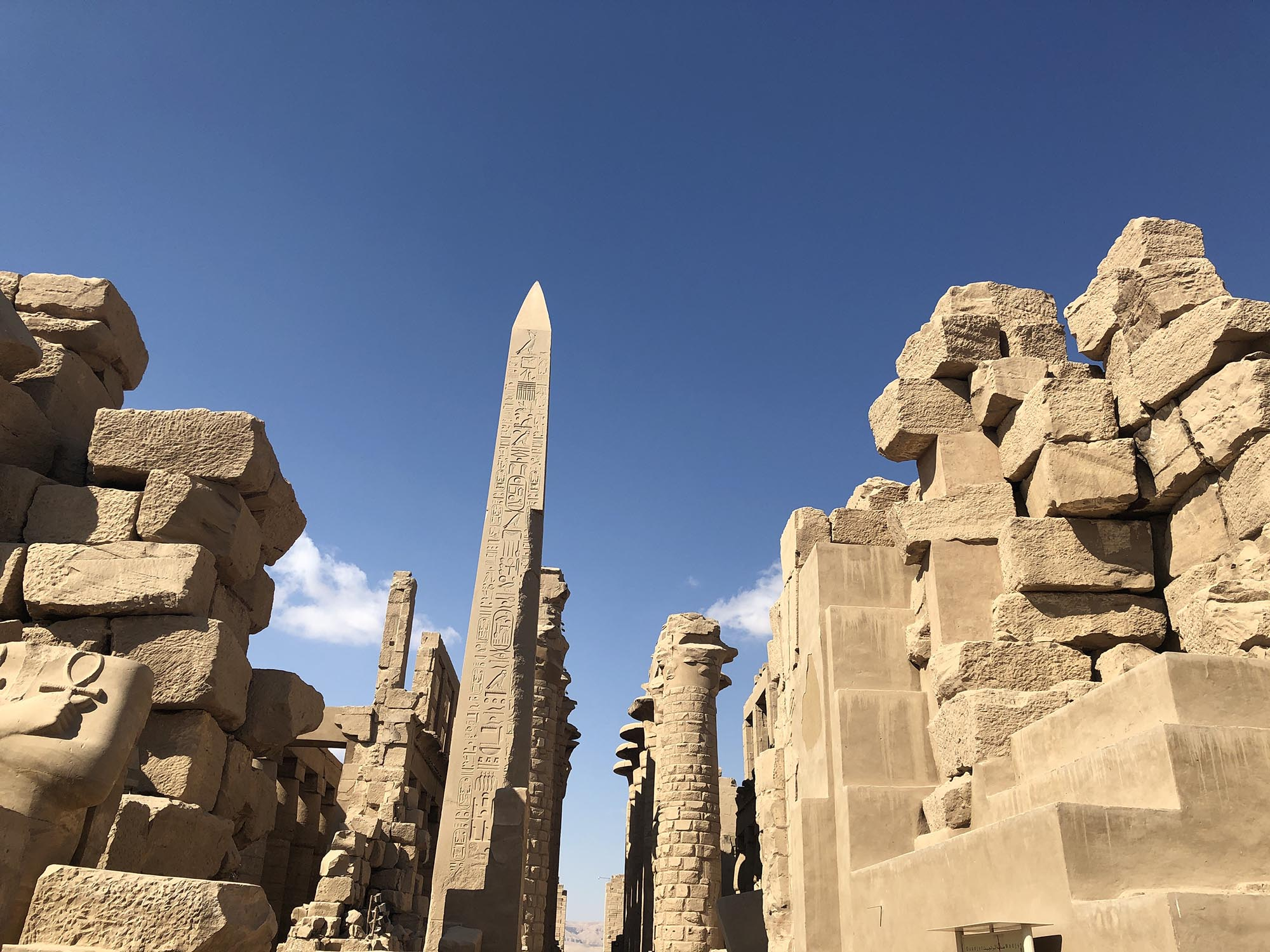 Egypte Luxor Tempel Van Amon