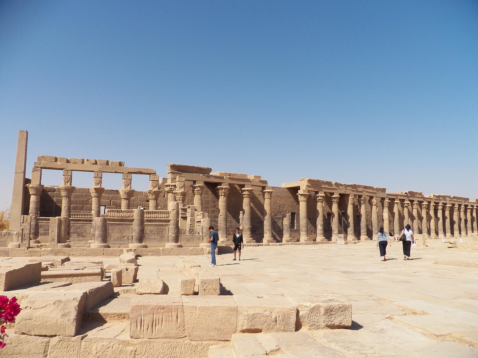 Egypte Philae Eiland Ruïnes