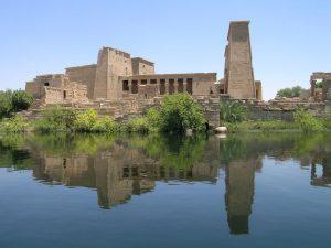 Egypte Philae Eiland Vanaf Het Water