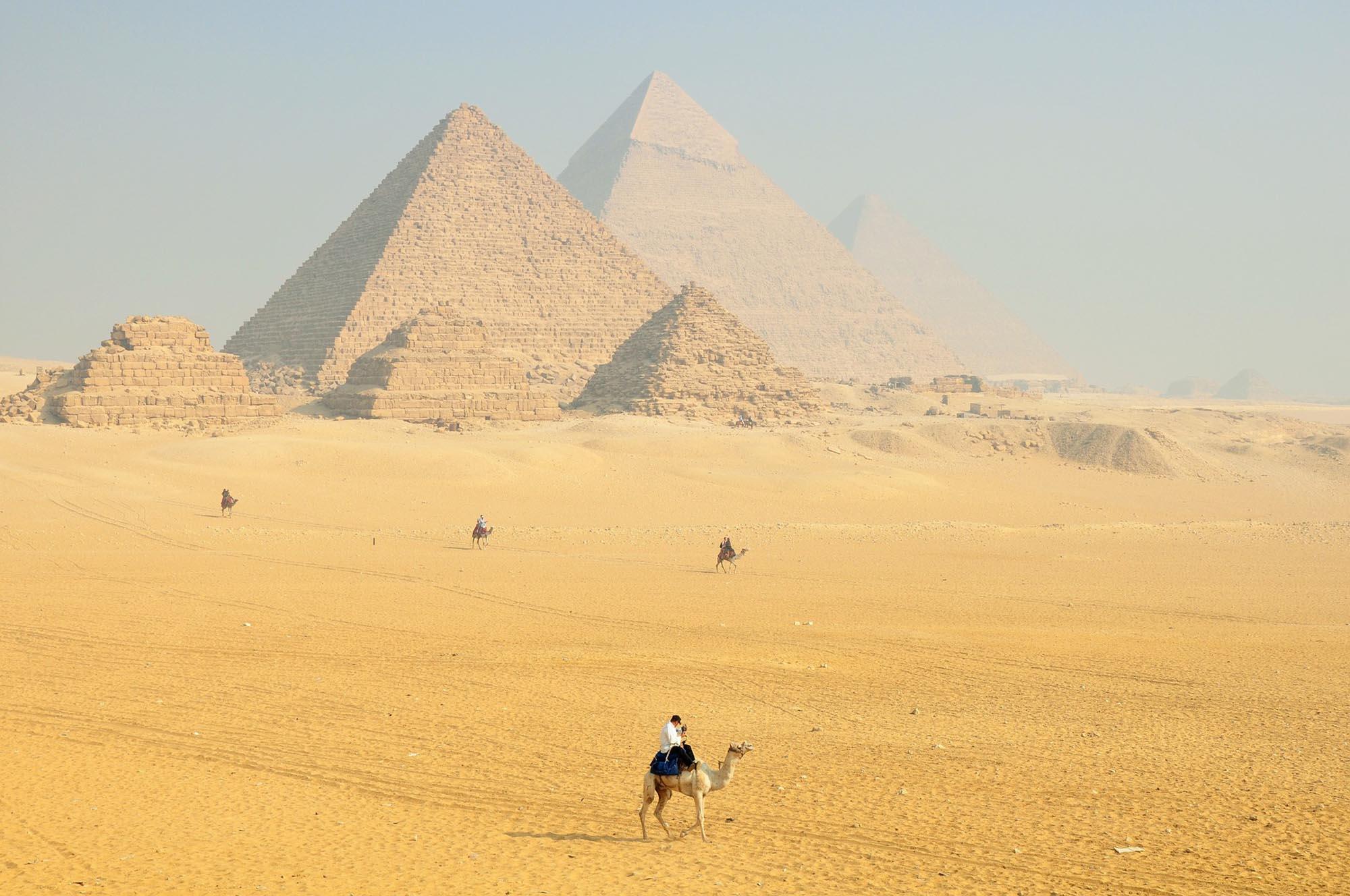 Egypte Piramides Kameel
