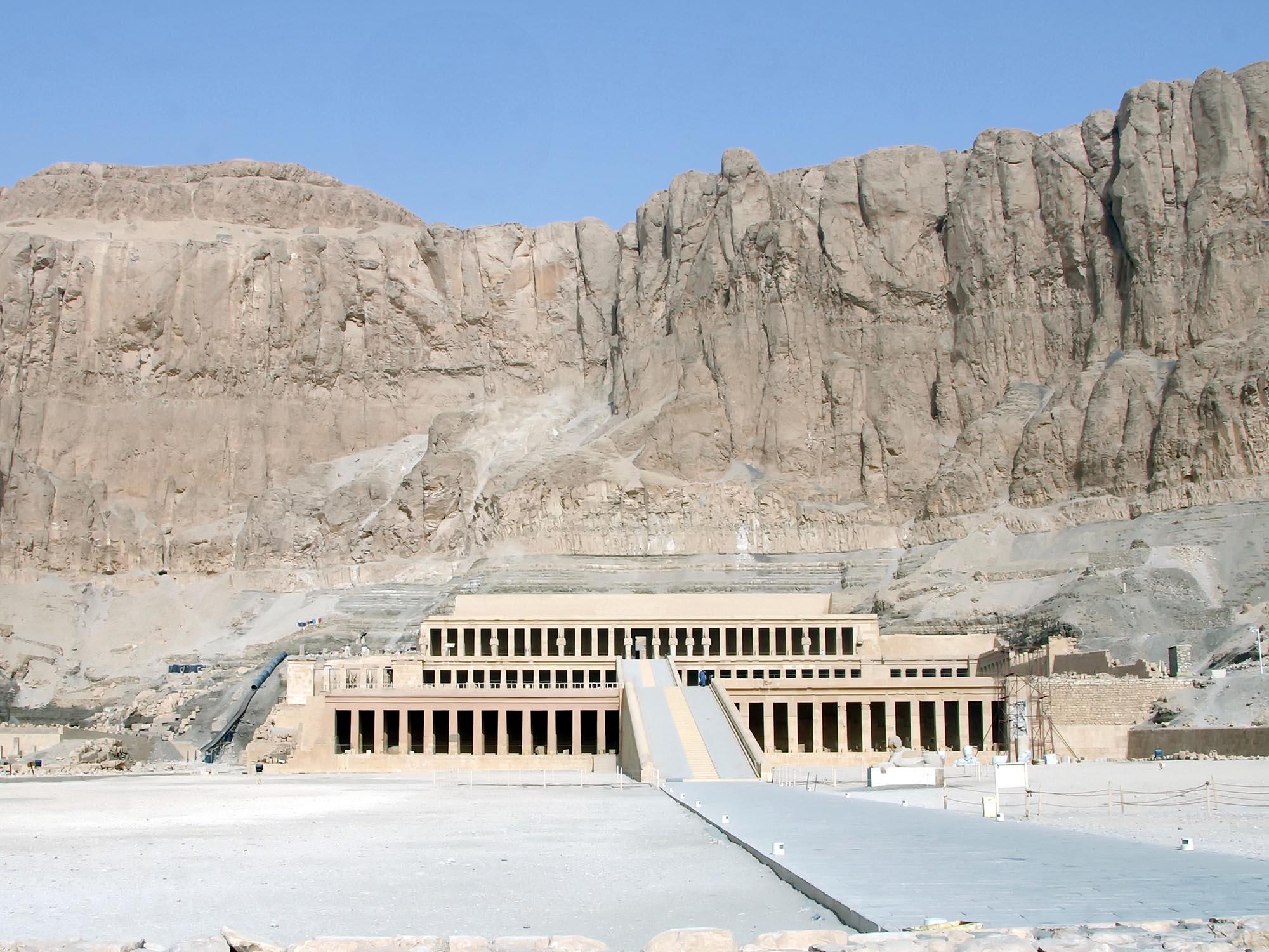 Egypte Tempel Van Hatsjepsoet