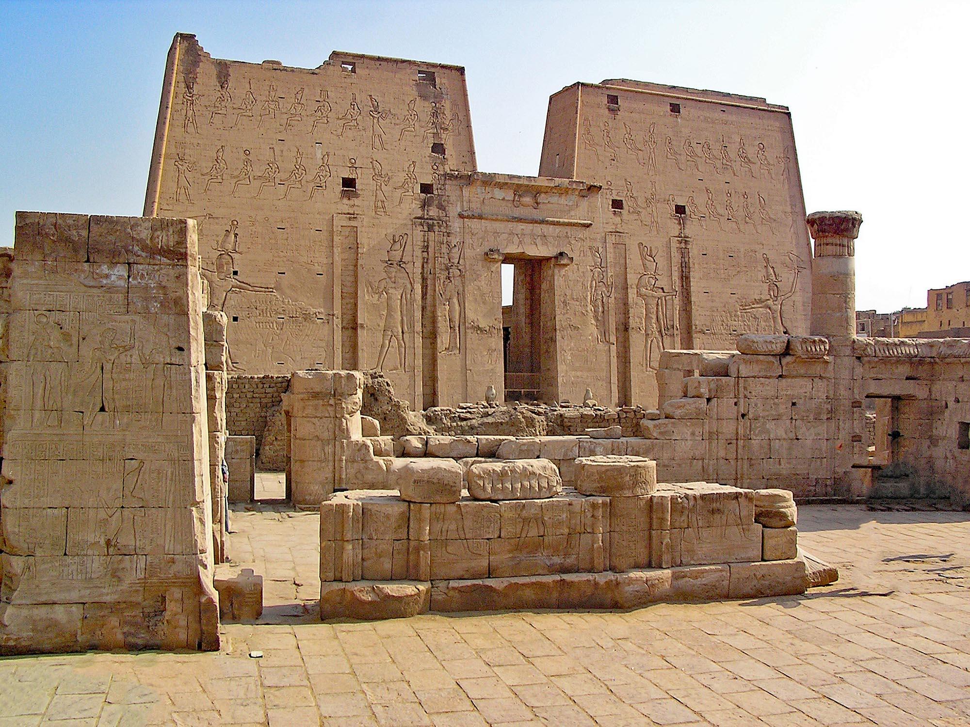 Egypte Tempel Van Horus In Edfu