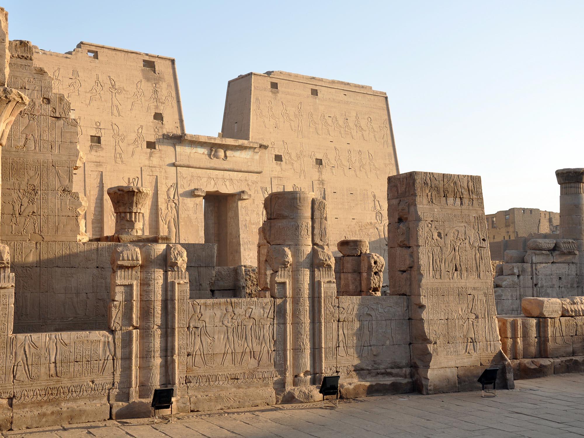 Egypte Tempel Van Horus