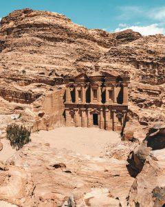 Het Klooster van Petra in Jordanië