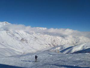 Iran Dizin Skiën Pistes Uitzicht