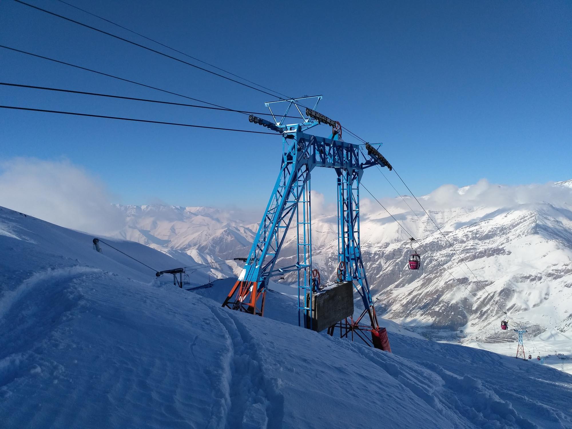 Iran Dizin Skiën Skilift