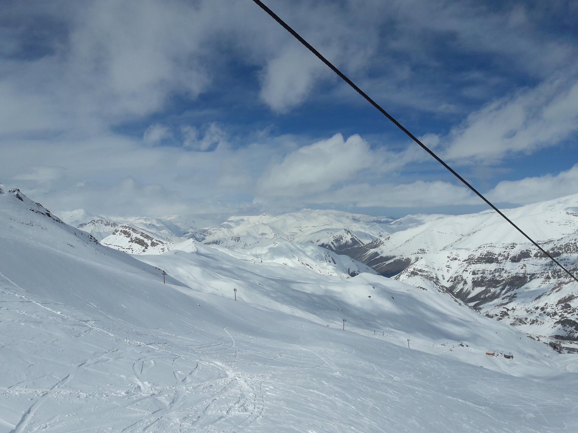 Iran Dizin Skilift Uitzicht