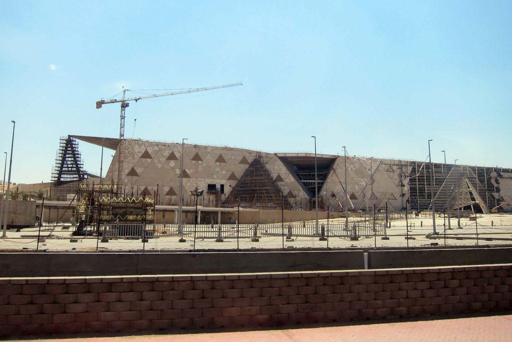 Grand Egyptian Museum in aanbouw