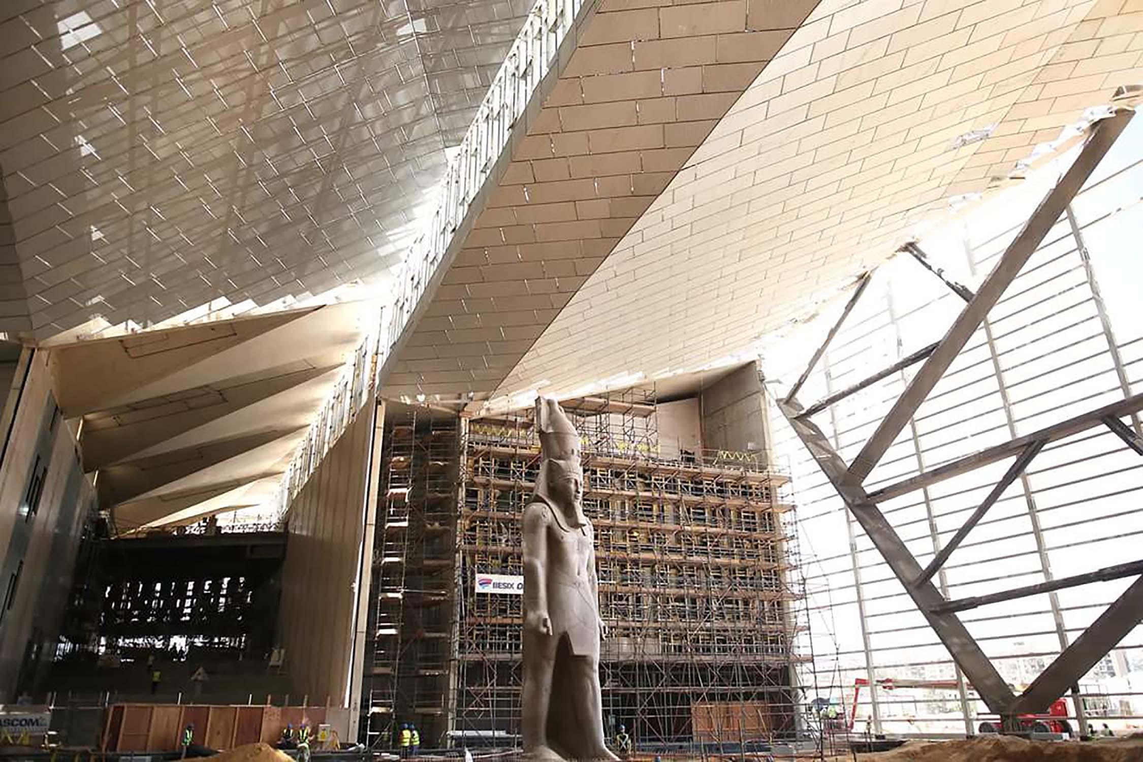 Het nieuwe Grand Egyptian Museum in Caïro
