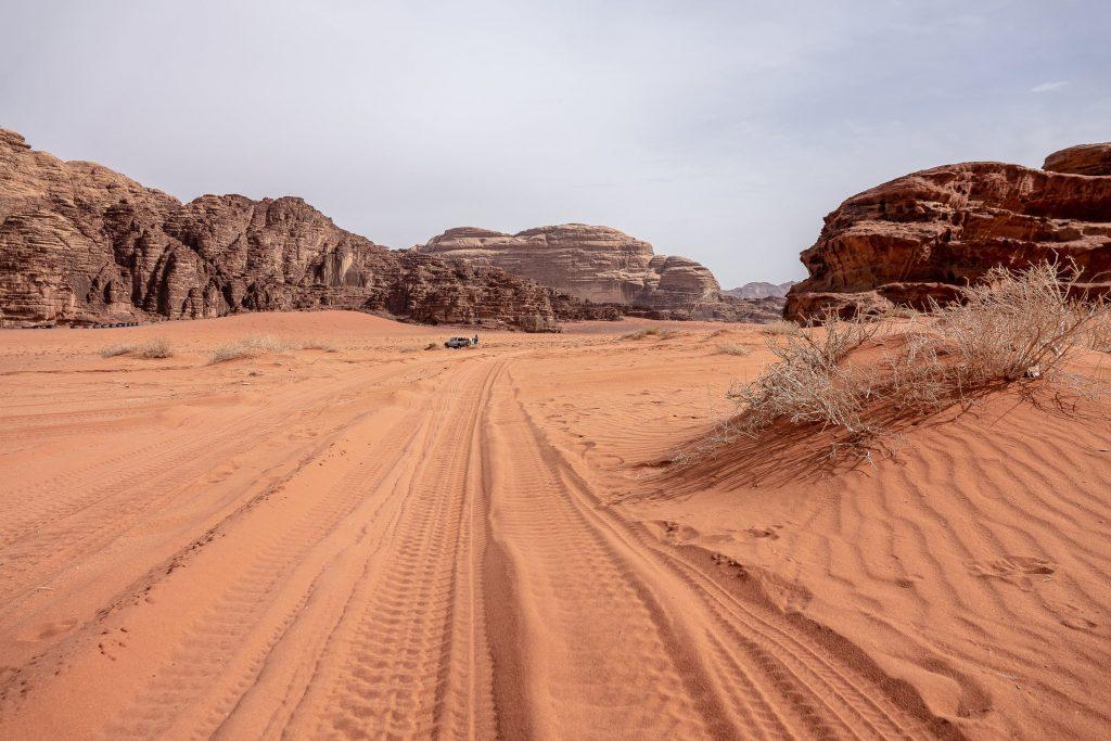 De Wadi Rum in Jordanië