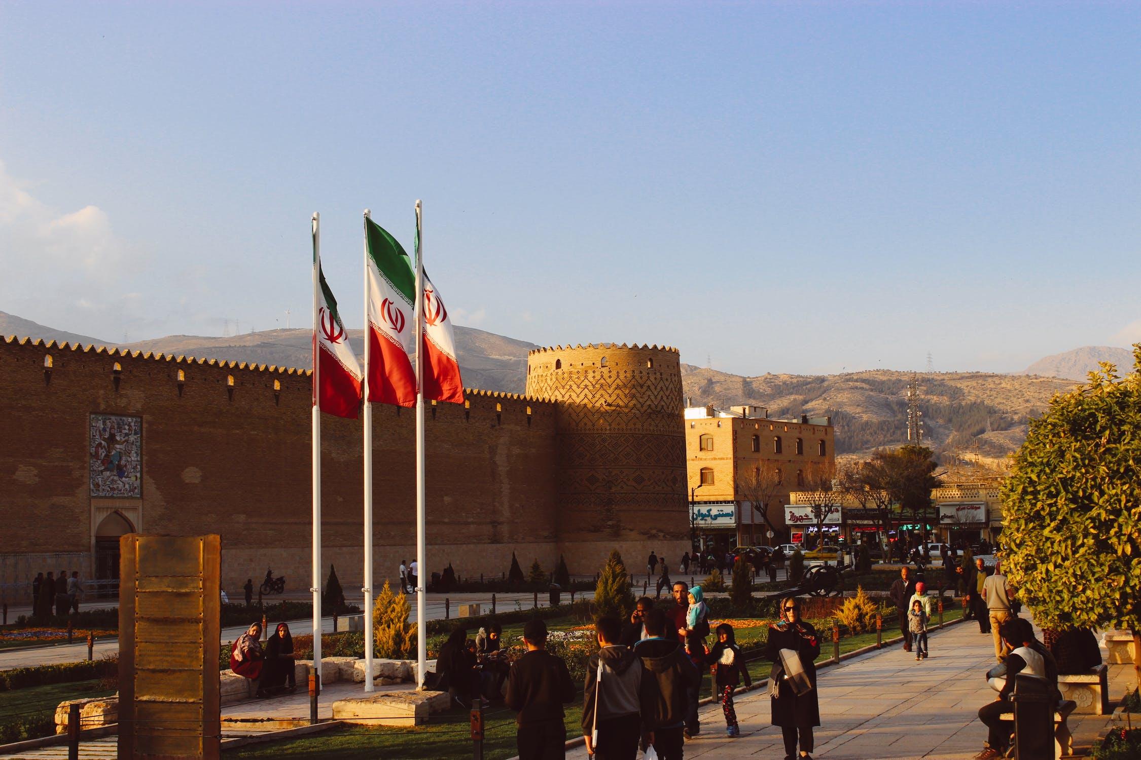 De kalme stad Shiraz