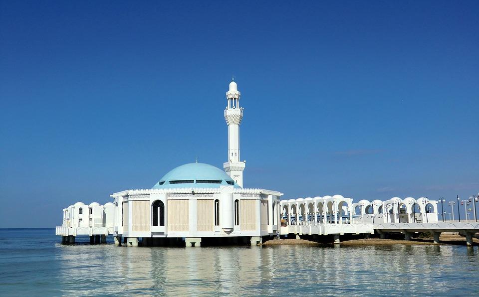 De drijvende Al-Rahma moskee
