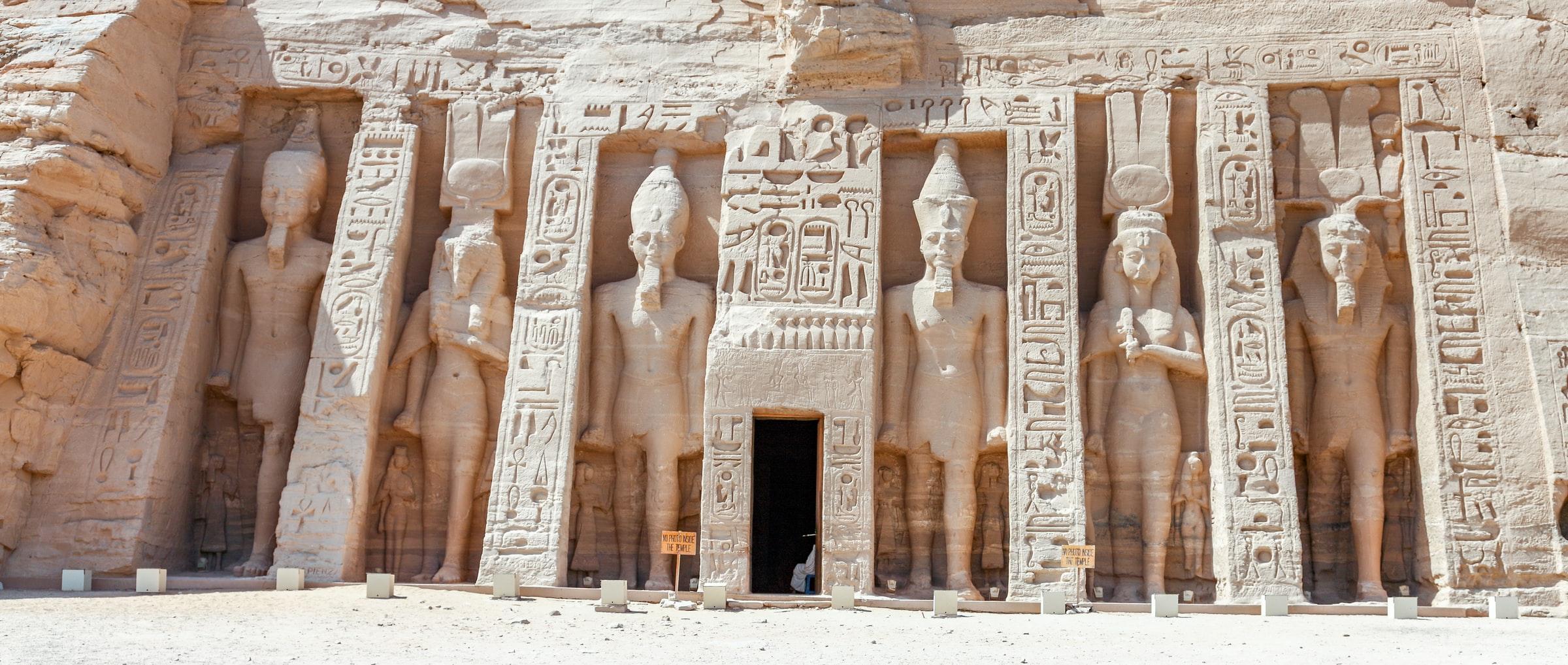 De tempels van Abu Simbel in Egypte
